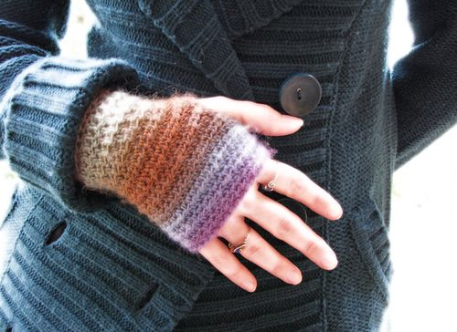 Shaded wristwarmers, sm